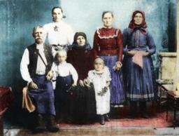 Egy magyarországi szlovák család (Sátoraljaújhely, 1907 körül)
