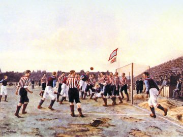 futball mérkőzés 1895-ből