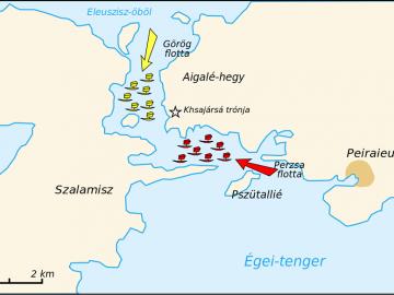 Görög-perzsa háborúk, szalamiszi ütközet