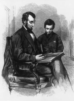 Lincoln With Son Tad