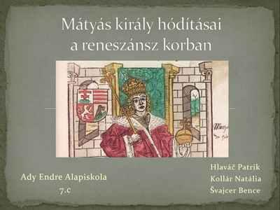 Mátyás király hódításai
